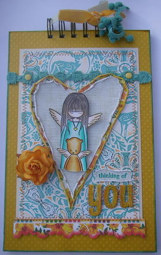 *thinking of you* handmade in memory scrapbook photo album front
