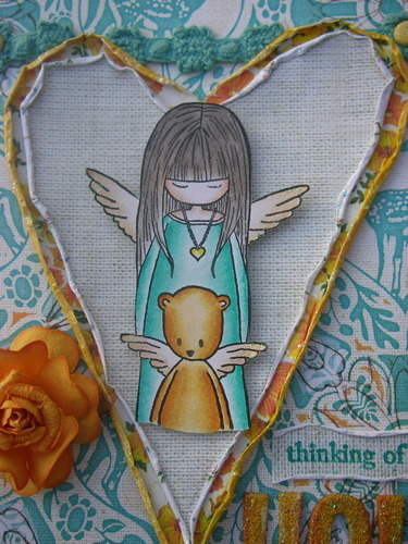 *thinking of you* handmade scrapbook image