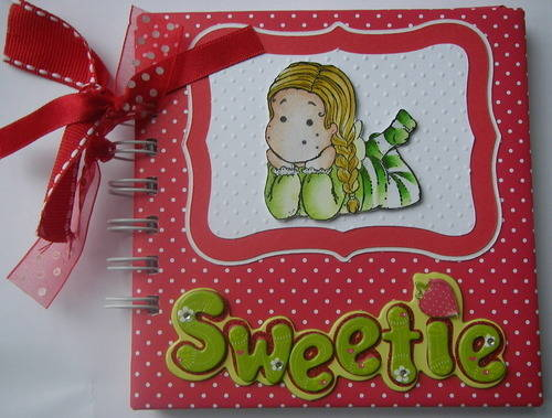*sweetie* baby girl scrapbook album front