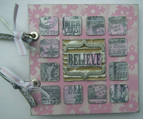 *believe* a handmade inchie Christmas album front