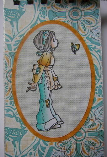 *fingers crossed* handmade good luck notebook image