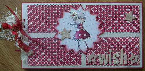 *wish upon a star* handmade scrapbook photo album front