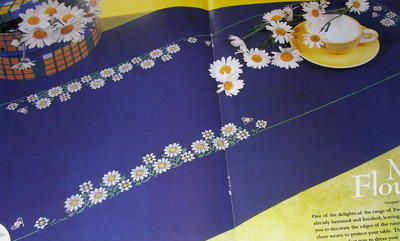 Daisy Flower Table Runner ~ Cross Stitch Chart