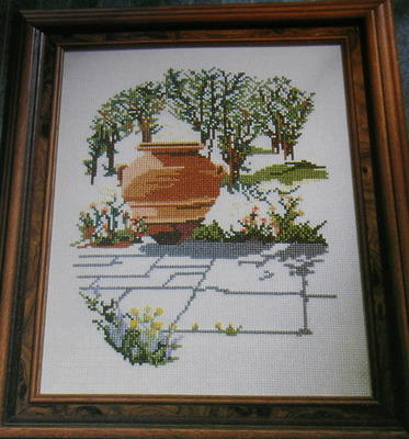 Enchanted Garden with Large Urn Cross Stitch Chart
