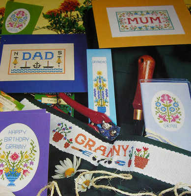 Family Cards & Gifts ~ SEVEN Cross Stitch Charts
