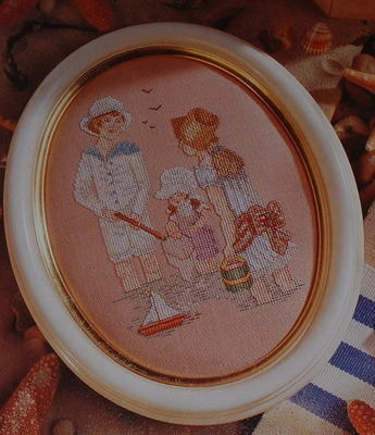 Victorian Children at Seaside Cross Stitch Chart