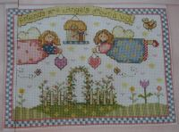 Friends Are Angels Around Us ~ Cross Stitch Chart