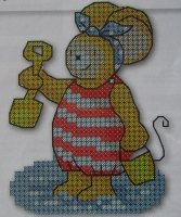 Mouse at the Seaside ~ Cross Stitch Chart