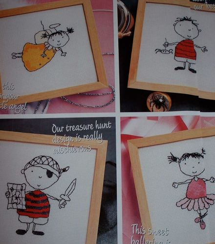 Cheeky Children ~ Four Cross Stitch Charts