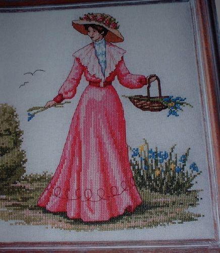 Edwardian Lady in the Garden ~ Cross Stitch Chart