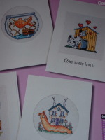 Six Animal New Home/You've Moved Cards ~ Cross Stitch Charts