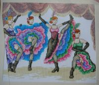 Cancan Dancers ~ Cross Stitch Chart
