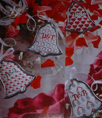 Wedding Bells Wedding Tokens ~ FOUR Cross Stitch Charts