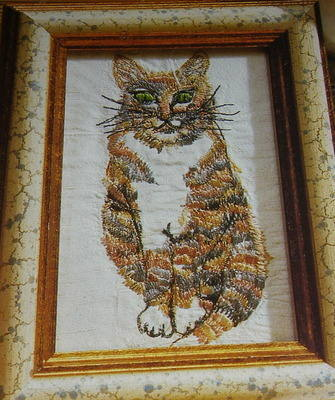 Tabby Cat ~ Machine Embroidery Pattern