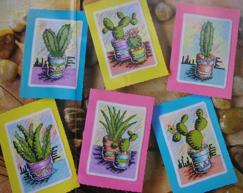 Fun Cacti Cards ~ Cross Stitch Charts