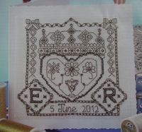 Queen's Diamond Jubilee ~ Blackwork Chart