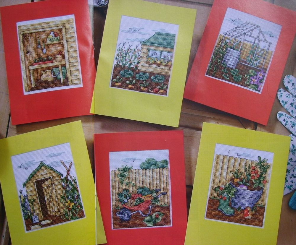 Green Fingered Gardening Cards ~ Cross Stitch Charts