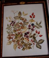 Fruits of Autumn Firescreen ~ Cross Stitch Chart