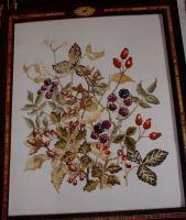 Fruits of Autumn Firescreen ~ Cross Stitch Chart