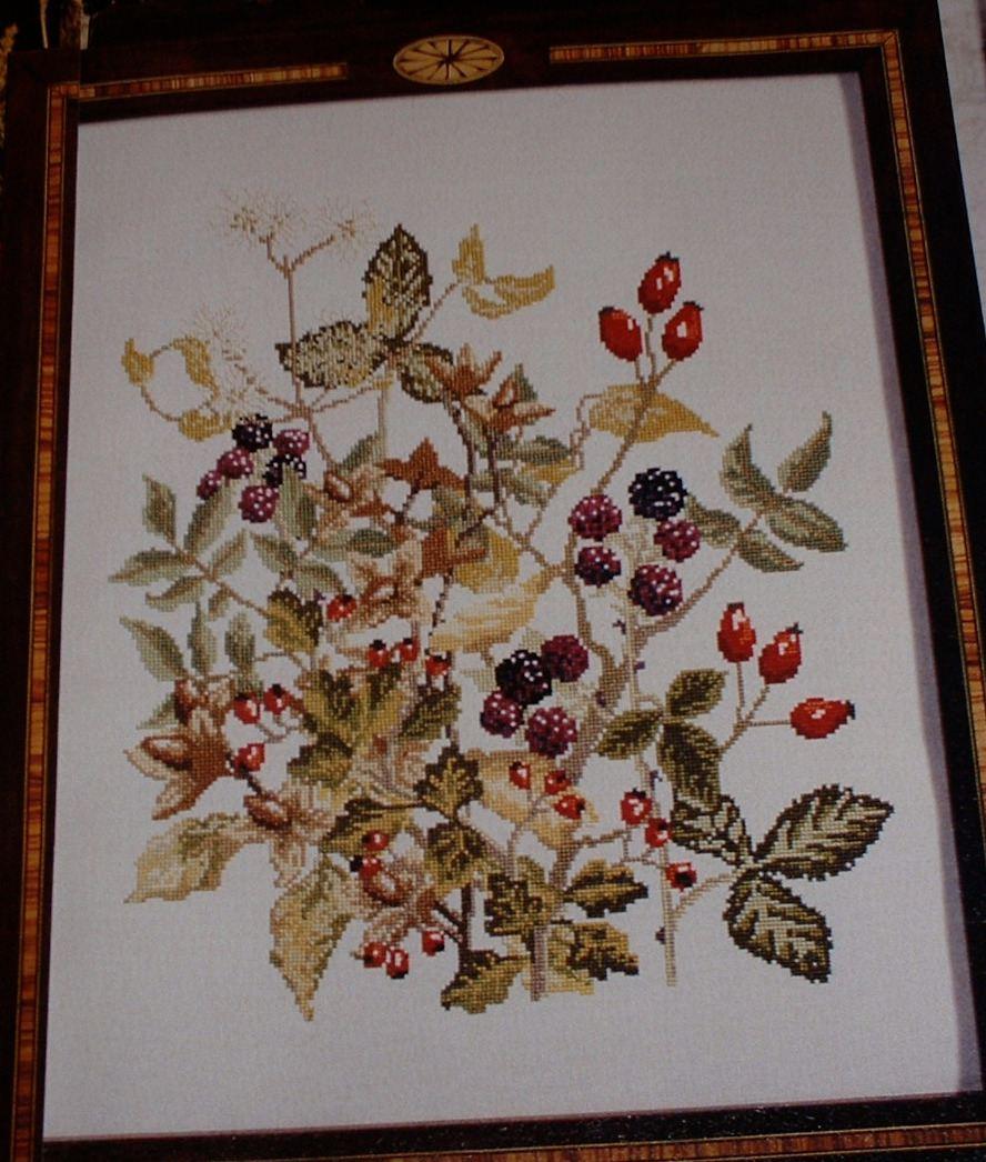 Autumnal Berries Firescreen ~ Cross Stitch Chart