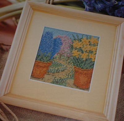 Jill Gordon ~ Spring Pots ~ Needlepoint Pattern
