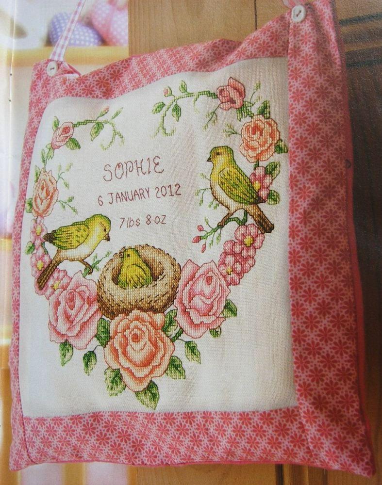 Chickadee Birth Sampler ~ Cross Stitch Chart