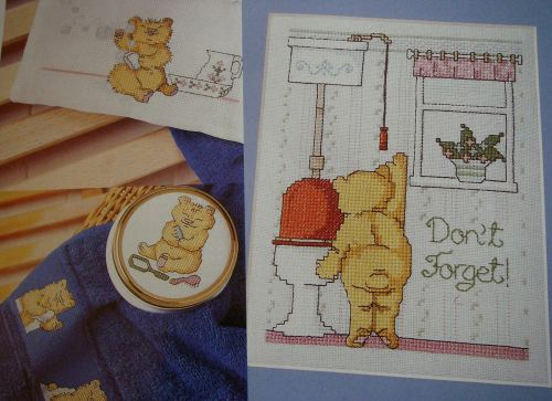 Bathroom Bears ~ Six Cross Stitch Charts