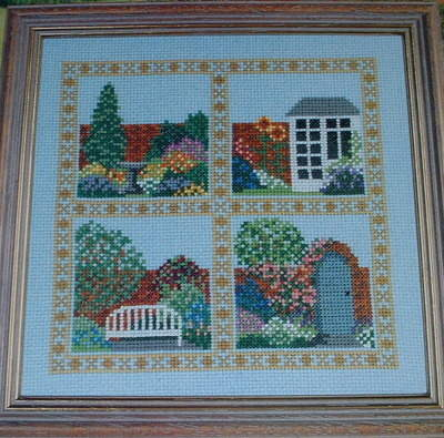 Four Corners of the Garden Sampler ~ Cross Stitch Chart