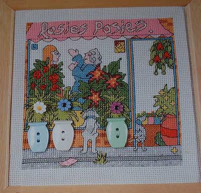Flower Shop Window Scene ~ Cross Stitch Chart