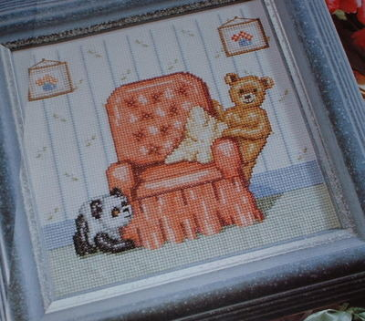 Peek-A-Boo: Teddy & Panda ~ Cross Stitch Chart