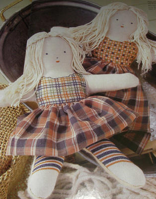TWO Patchwork Dolls - Cross Stitch Charts