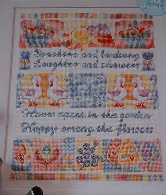 Sunshine & Birdsong Garden Sampler ~ Chart