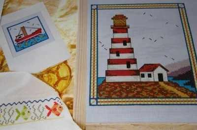 Seaside Lighthouse ~ THREE Cross Stitch Charts