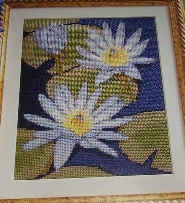 Waterlilies on a Pond ~ Cross Stitch Chart