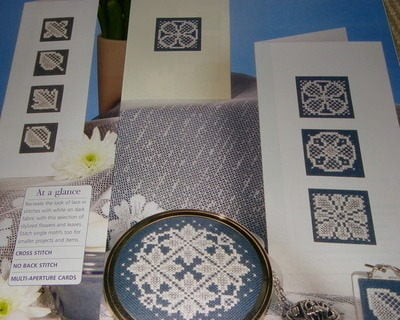 Lacey Leaf Motifs for Cards ~ 8 Cross Stitch Charts