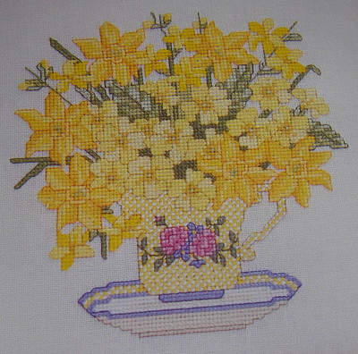 Narcissi Primroses & Forsythia ~ Cross Stitch Chart