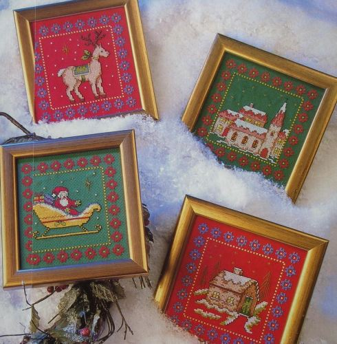 Scandinavian Christmas ~ Four Cross Stitch Charts