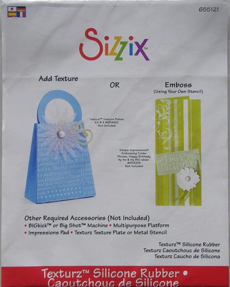 Sizzix Texturz Silicone Rubber Mat for Big Shot or BIGkick 655121
