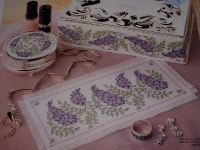 Co-ordinating Wisteria Set ~ Three Cross Stitch Charts
