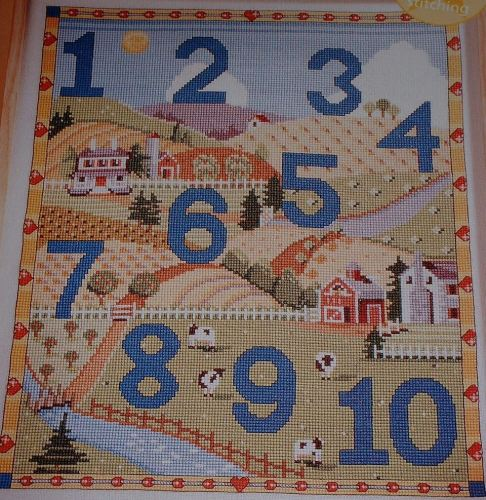 Child's Nursery Counting Sampler ~ Cross Stitch Chart