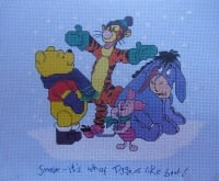 Designer Stitches: The Winnie the Pooh Collection Winter D7 ~ Cross Stitch Kit