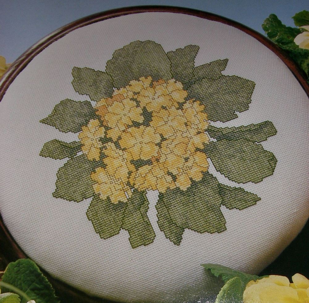 Primrose Flower Stool/Picture ~ Cross Stitch Chart