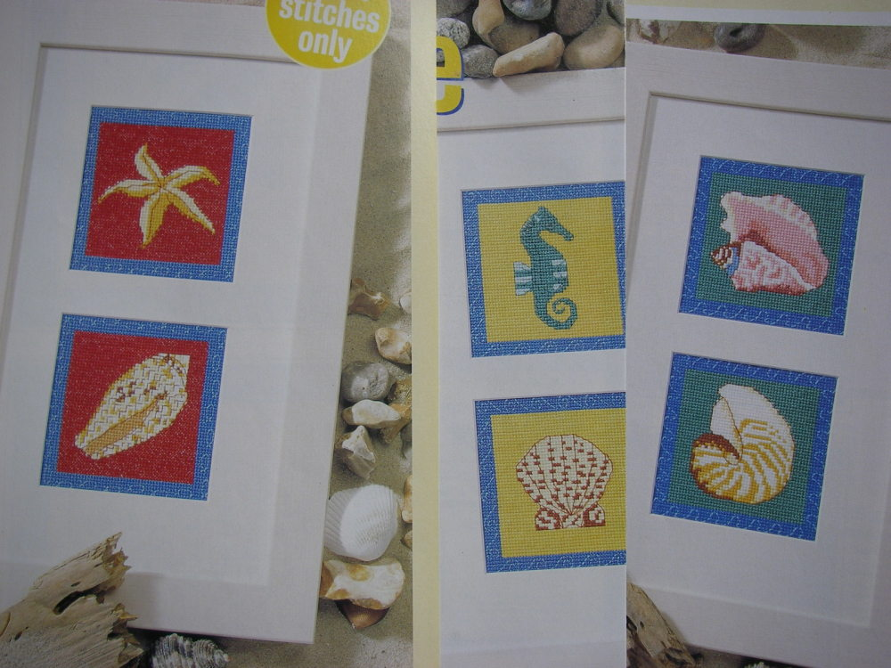 Seashells & Seahorse ~ Six Cross Stitch Charts