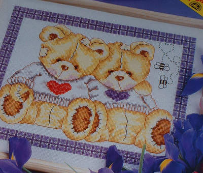 DMC - Honey Pot Bears - Cross Stitch Chart