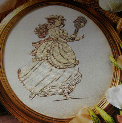 Victorian Tennis Player ~ Cross Stitch Chart