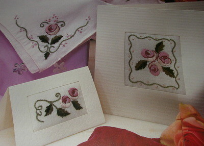 Rose Florals ~ THREE Embroidery Card Patterns
