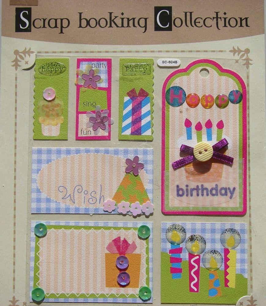 Birthday Celebrations ~ Cardstock Stickers