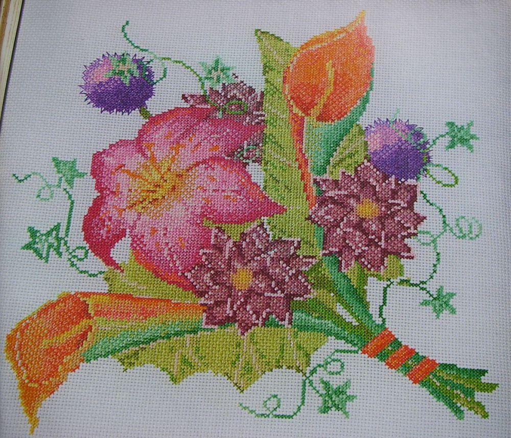 Colourful Autumn Bouquet ~ Cross Stitch Chart