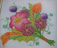 Colourful Autumn Bouquet ~ Cross Stitch Chart