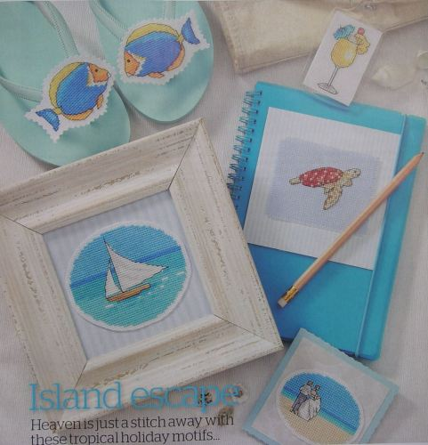 Tropical Island Paradise ~ 40 Cross Stitch Motifs